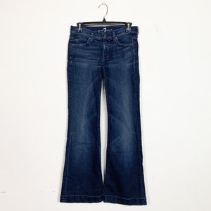 7 For All Mankind Dojo Flare Jeans Size